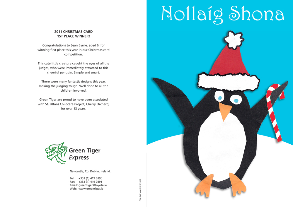St Ultans Christmas card design 2011