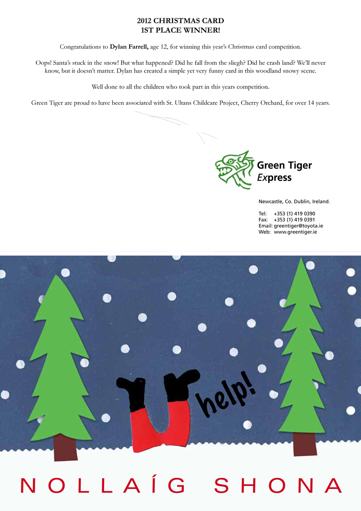 St Ultans Christmas card design 2012